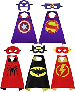 Fun Cartoon Hero Capes - for Kids Halloween Costumes and Masks Birthday Party Gifts
