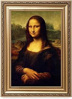 DECORARTS - Mona Lisa by Leonardo Davinci. The World Classic Art Reproductions. Giclee Print with Matching Art Frame, 30x20 Framed Size: 36x26