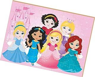 Quebra-Cabeça Madeira Princesas Babygigante 48 Peca Brincadeira De Criança