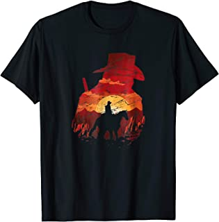 Sunset Cowboy RDR2 Cool Gaming T Shirt