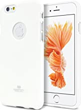 Goospery Pearl Jelly for Apple iPhone 6S Plus Case (2015) iPhone 6 Plus Case (2014) Slim Thin Rubber Case (White) IP6P-JEL-WHT