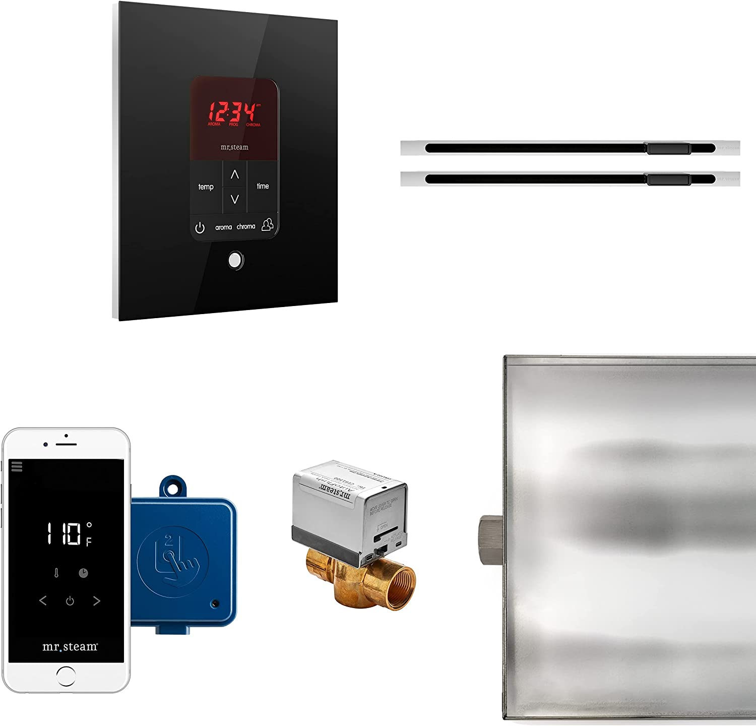 MrSteam Butler Tulsa Mall Free Shipping Cheap Bargain Gift Max Linear Black Package Square Control