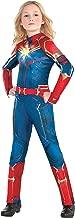 Costumes USA Light-Up Captain Marvel Halloween Costume for Girls, Superhero Jumpsuit, Large, Dress Size 12-14