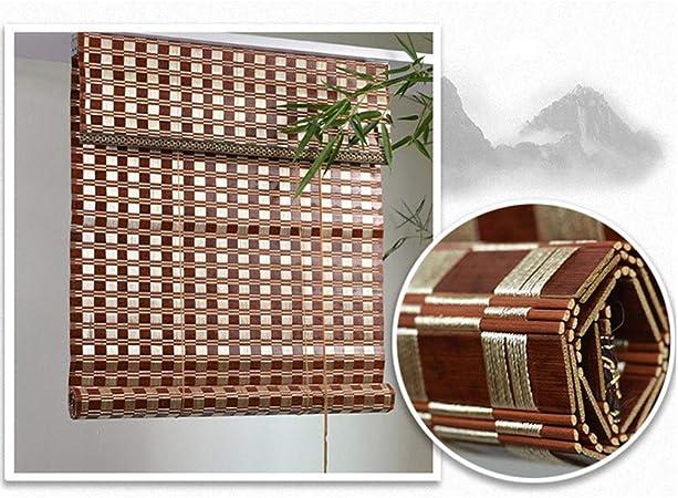 LJA Outdoor Persianas enrollables de bambú marrón Chocolate ...