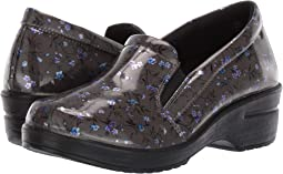 Grey/Blue Floral Patent