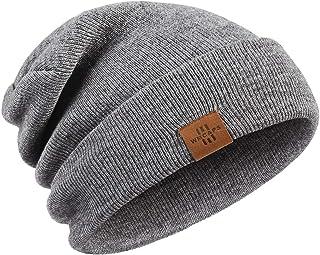 Wmcaps Gorro de Invierno, Hombre Gorros de Punto Unisex Slouch Cráneo Sombreros, Diseño Clásico Moderno y Suave