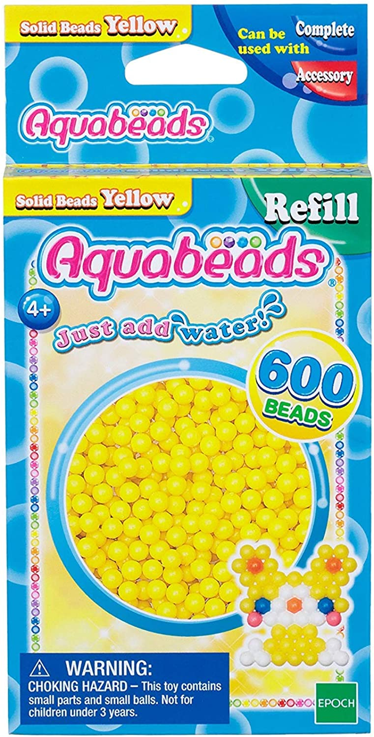 3 X Solid Bead Pack  Yellow