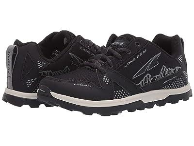 Altra Footwear Lone Peak (Little Kid/Big Kid) (Black) Shoes