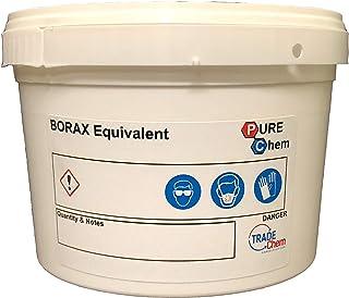 Trade Chemicals Borax Equivalente Humedad Gratis 1kg Bañera - Limpiador, Descalcificador, Hace Slime