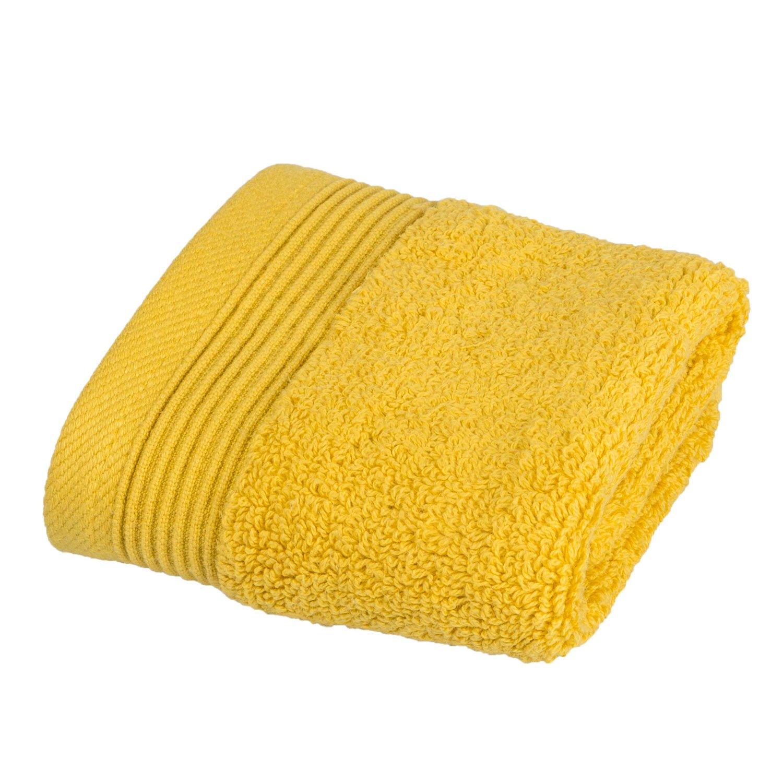 Homescapes - Toalla, algodón egipcio 700 g/m², suave y absorbente, color dorado, algodón egipcio, Ocre, Serviette invité 30 x 30 cm: Amazon.es: Hogar