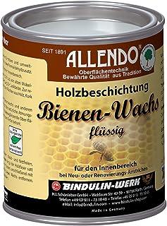 Allendo Bienenwachs flüssig 750 ml von Bindulin, biologische Holzbeschichtung Bienen Wachs im Innenbereich, umweltfreundlich, wasserverdünnbar, geeignet für Spielzeug Farbe: natur