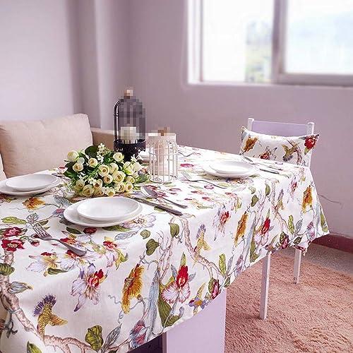 MARCU Home Nappes, nappes en Coton imperméable, Nappe de Table Basse, 4, 120  120cm