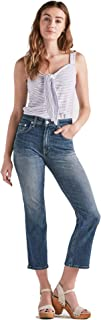 Lucky Brand Women's Lucky Pins High Rise Cropped Jean in Lemon Valley