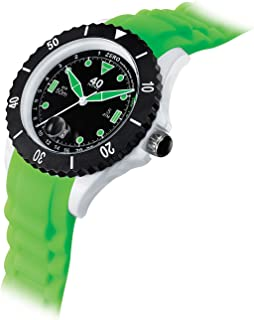 Women's Japanese-Quartz Watch with Silicone Strap, Green, 20 (Model: 40NINE03/GREEN30)