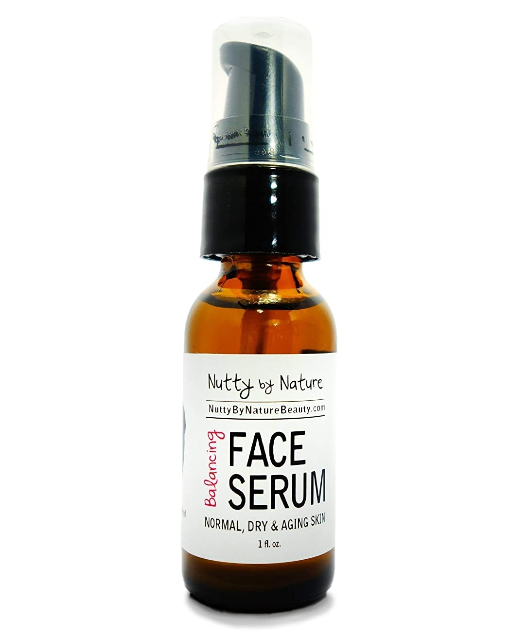 Nutty By Nature Balancing Face Serum - Normal, Dry and Aging Skin - 100% Natural