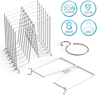 Neatly Made Shelf Dividers for Closet Organization 8-Pack – Sturdy White Carbon Steel Wire Shelf Separators to Declutter Closets, 12 x 12 in.