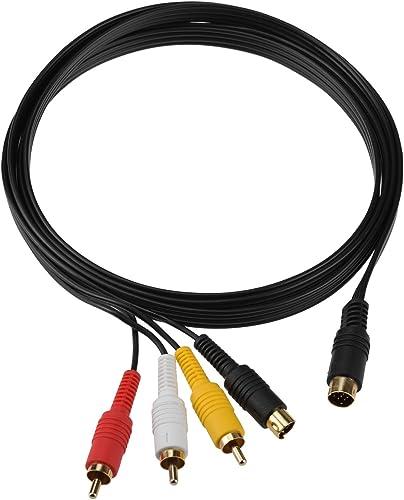 Gam3Gear S AV S-Video AV RCA Video Audio Composite TV Adapter Cable for Sega Saturn