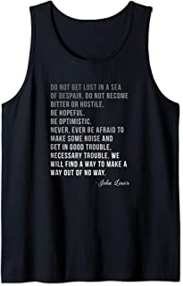 Congressman Lewis Civil Rights Hero Ombre Color Quote Tank Top