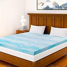 Milemont Mattress Topper Twin, 2-Inch Cool Swirl Gel Twin CertiPUR-US Certified Blue