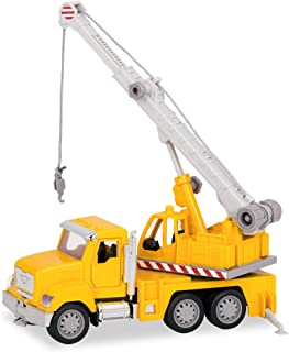 DRIVEN by Battat – Micro Crane Truck – Toy Crane Truck with Lights, Sounds and Movable Parts for Kids Age 3+