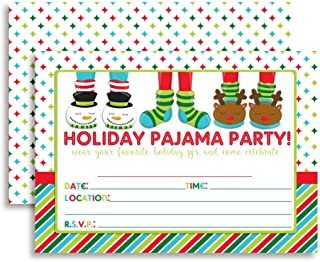 Holiday Pajama Birthday Party Invitations, 20 5