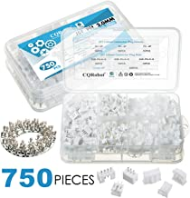 750 Pieces 2.0mm JST-PH JST Connector Kit. 2.0mm Pitch Female Pin Header, JST PH - 2/3 / 4 Pin Housing JST Adapter Cable Connector Socket Male and Female, Crimp DIP Kit.