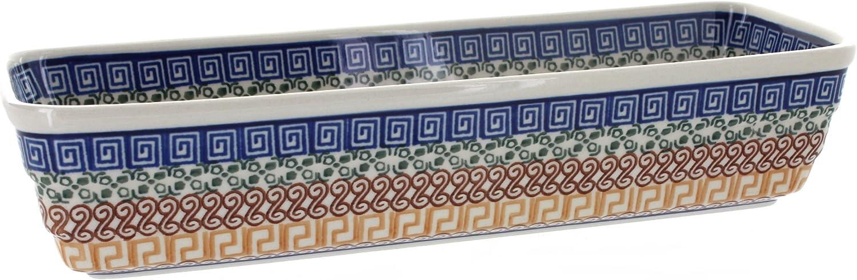 Blue Rose Polish Pottery Baker Long Award Manufacturer direct delivery Athena Loaf