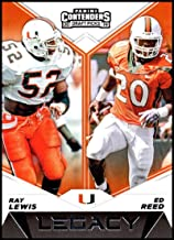 2019 Panini Contenders Draft Picks Legacy #16 Ray Lewis/Ed Reed Miami Hurricanes Official Collegiate Football Card of the NFL Draft