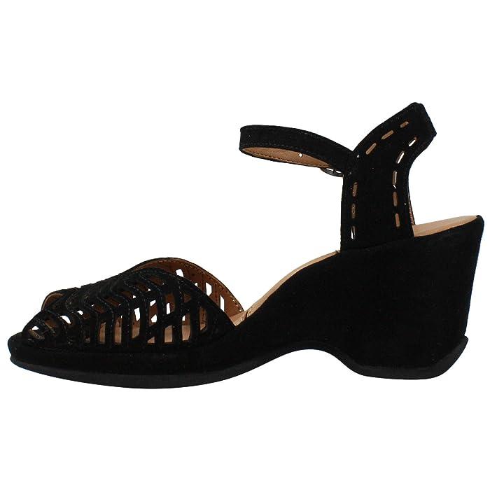 1940s Style Shoes, 40s Shoes LAmour Des Pieds Oanez Black Suede Womens Shoes $219.00 AT vintagedancer.com