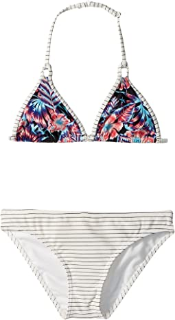 Roxy Kids - Surfing Miami Tiki Tri Set (Big Kids)