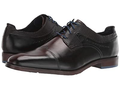 Stacy Adams Raiden Cap Toe Oxford (Brown/Blue) Men
