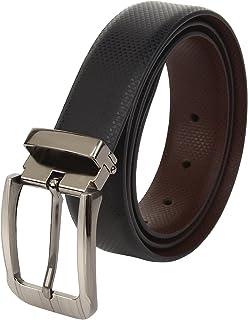 amicraft Black & Brown Leather Belt for Men (Reversible)