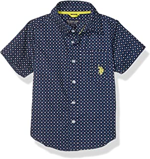 U.S. Polo Assn. Boys' Short Sleeve Printed Woven Shirt