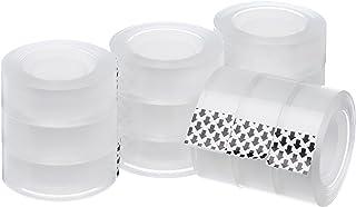 Amazon Basics – Recambio de cinta adhesiva transparente, 1,9 cm x 25,4 m, 12 rollos