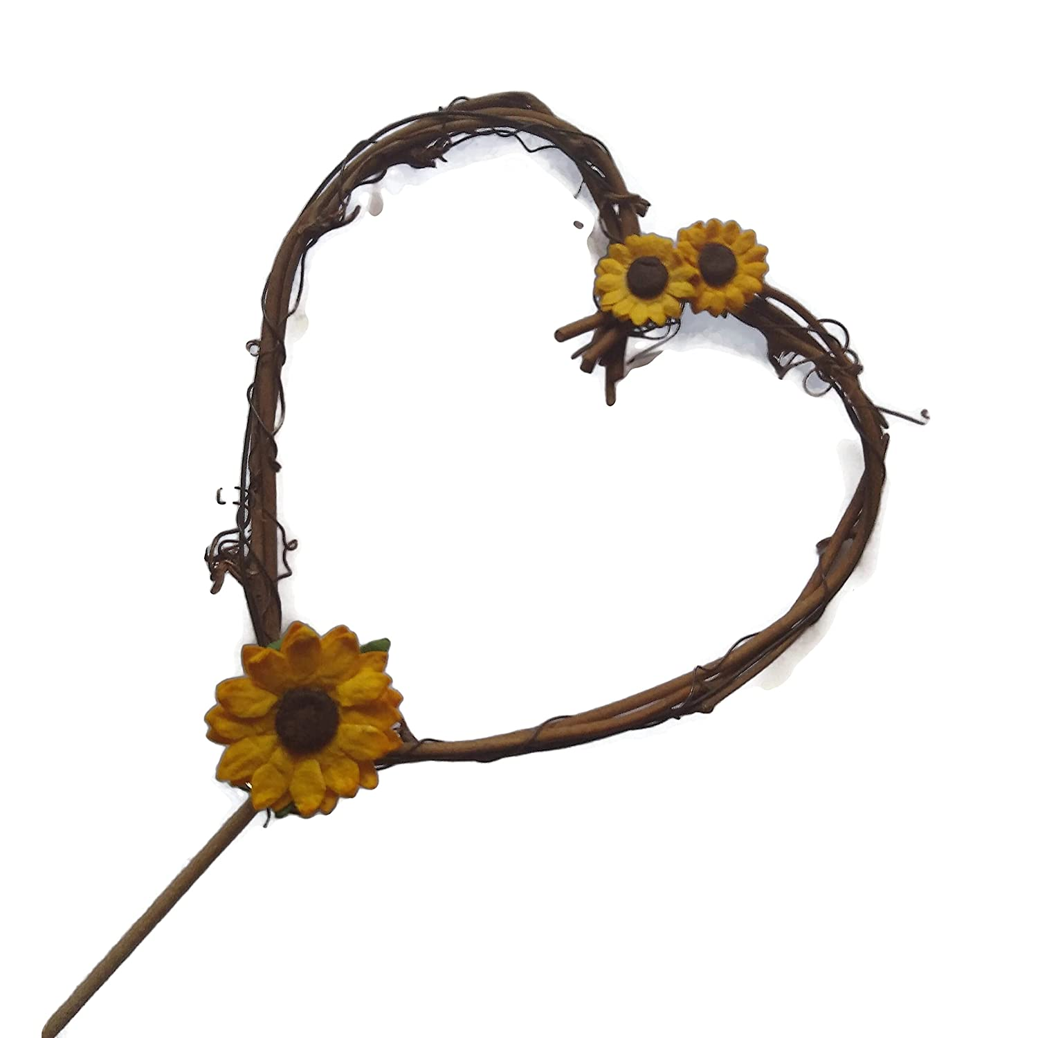 Rustic Sunflower Cake Topper for Autumn Party Max 88% OFF Baby Fall Excellent Wedding