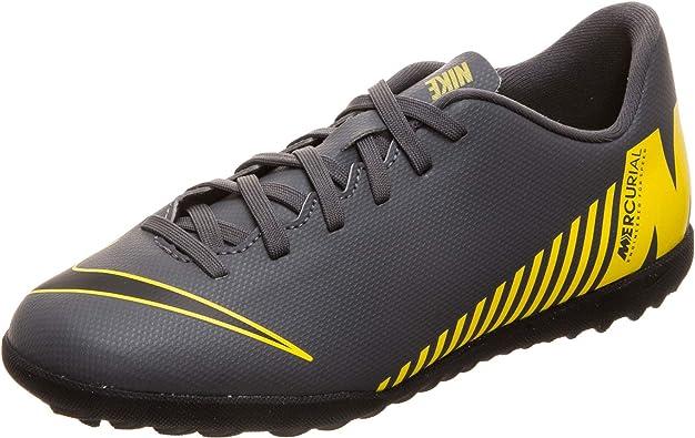 Nike Chaussures de Football Multi-crampons pour Enfants JR Vapor 12 Club Gris