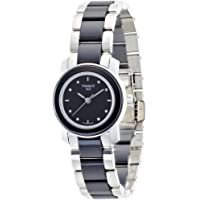 Tissot Women's Cera Black Dial Diamond-Accented Ceramic Watch