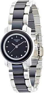 Tissot Women's Black Dial Color Metal & Ceramic Band Watch - T064.210.22.056.00 28