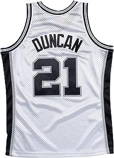 Mitchell and Ness Duncan Platinum Spurs #21 Swingman Jersey (18476-SASSILV98TDU)