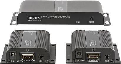 DIGITUS DS-55302 Extensor Audio/Video AV Transmitter & Receiver Black - Extensor de A/V (AV Transmitter & Receiver, 1920 x 1080 Pixels, Cat6,Cat6a,Cat7, 40 m, 60 Hz, 1080p)