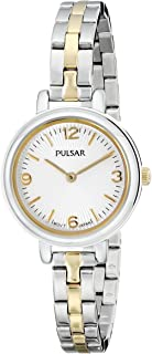 Pulsar Women's PM2087 Easy Style Collection Analog Display Japanese Quartz Silver Watch