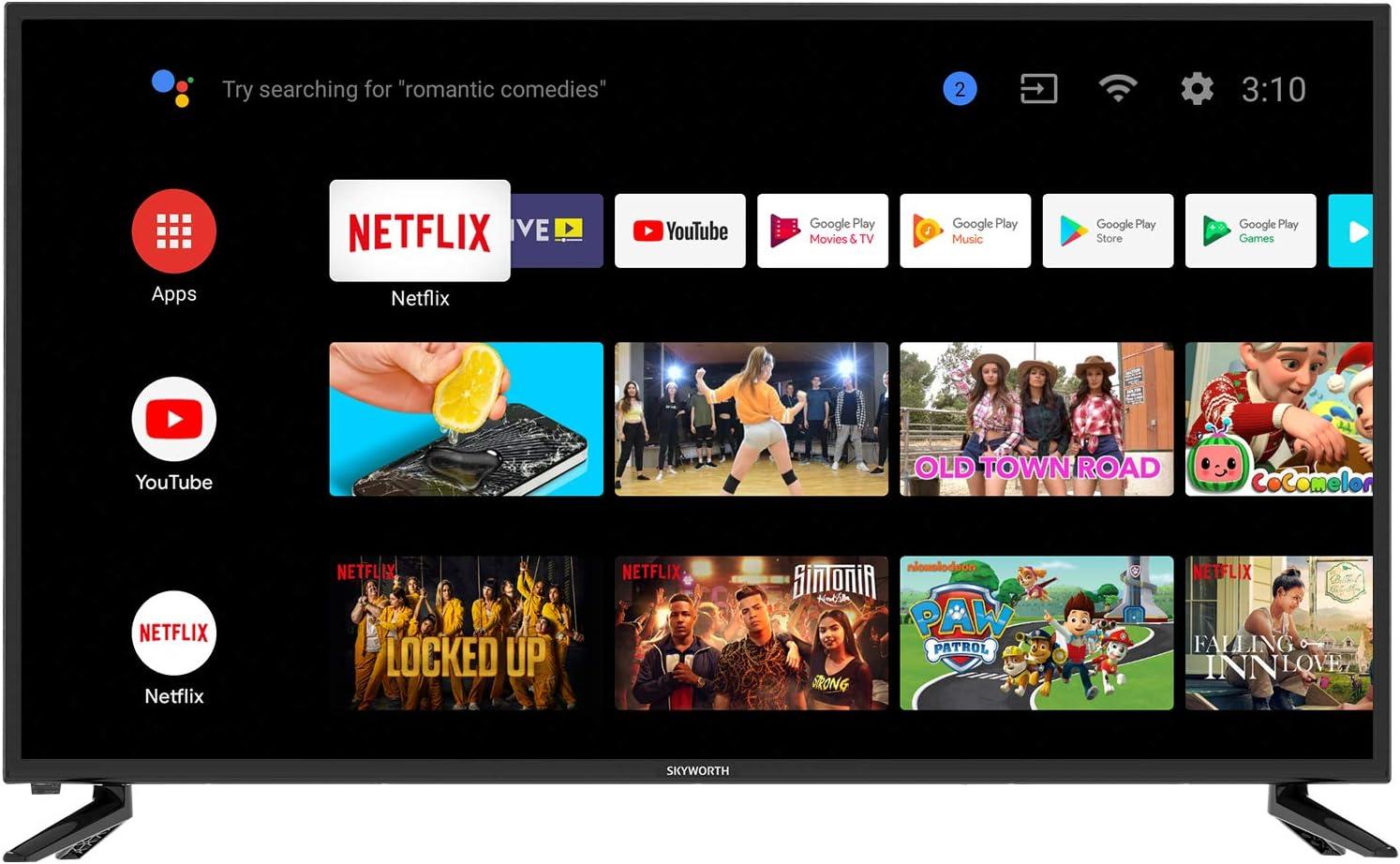 Amazon Com Skyworth 42s3g Inch Premium 1080p Hd Led Television Quad Core Android Tv Smart With Voice Control Google Assistant Chromecast Smart Tv Android Tv Everything Else Skyworth 1080p led tv 40 in review