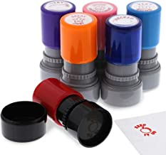 Bright Creations Mini Self Inking Teacher Grading Stamps (6 Pack), 6 Designs, 6 Colors