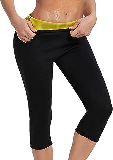 شلوار لاغری زنانه Roseate Body Sweat Body Shaper Workout Capri for Weight Loss Stuffing Shapewear Shapewear Thermo Leggings