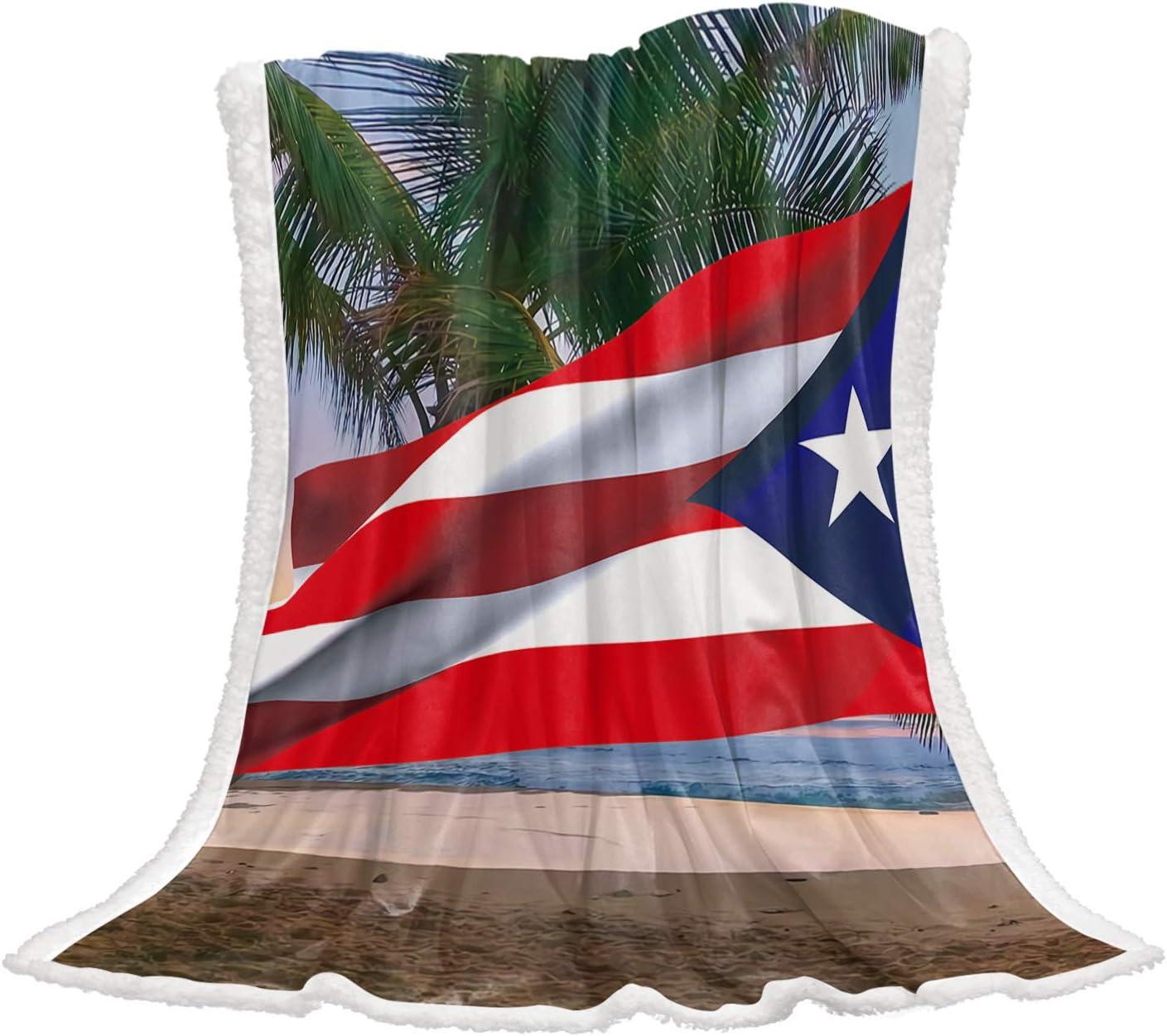 Weekly update Cloud Dream Home Flannel Ranking TOP11 Fleece Rican Sherpa Blanket Flag Puerto