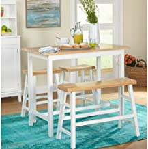 Simple Living 4-piece Galena Modern Farmhouse Counter Height dining table & set