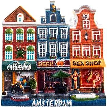 Weekino Sexy Shop Amsterdam Países Bajos Imán de Nevera 3D Resina ...