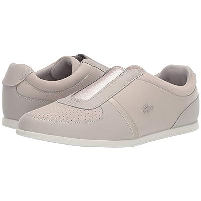 Lacoste Rey Slip 318 2 (Grey/Off-White) Women