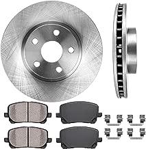 CRK11228 FRONT 275 mm Premium OE 5 Lug [2] Brake Disc Rotors + [4] Ceramic Brake Pads + Clips