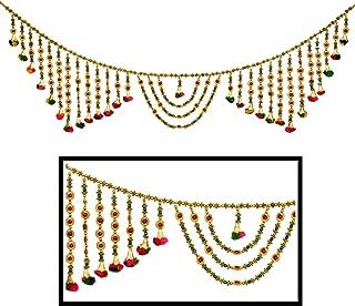 Amba Handicraft Door Hanging Toran Window Valance Dream Catcher Home Décor Interior Pooja bandanwaar Diwali Gift Festival Colorful Indian Handicraft Love.TORAN 218